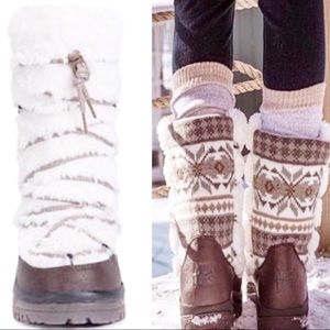 Women's Muk Luks waterproof faux fur boots